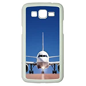 Imagination Cases Airplane On The Runway Polycarbonate Hard Case Cover for Samsung Galaxy Grand 2 7106¨C White