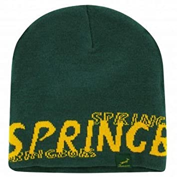 South Africa Rugby Springboks Beanie Hat  Amazon.co.uk  Sports   Outdoors f9f8e66a202