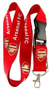 Arsenal Club - Football Club: ARSENAL Lanyard - Red Lanyard - DGK neck lanyard - 25mm x 50cm