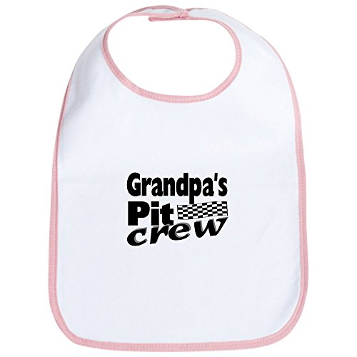 CafePress Grandpa's Pit Crew Bib Cute Cloth Baby Bib, Toddler Bib