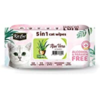 Kit Cat 5-In-1 Cat Wipes ALOE VERA Scented 80 sheet
