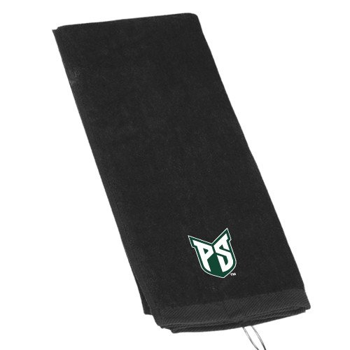 Portland State Black Golf Towel 'Official Logo' by CollegeFanGear