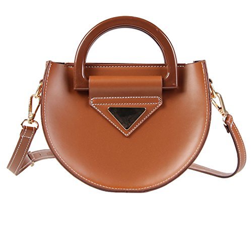 Couleur Saddle Marron Messenger Bag Sac Vintage Femme Bag Noir Portable Shoulder Roscloud Anneau Petit PBTxYY