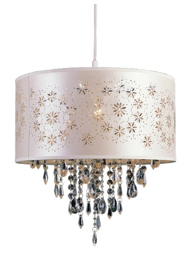 - Trans Globe Lighting PND-607 WH 15-1/2-Inch 1-Light Pendant, White