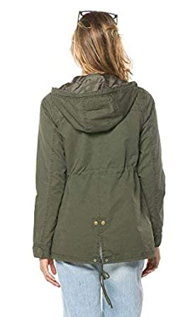 Hooded Parka Coat in Olive and Black Plus S-XXXL SOHO GLAM Sohogirl.com AMZHOODEDPARKA