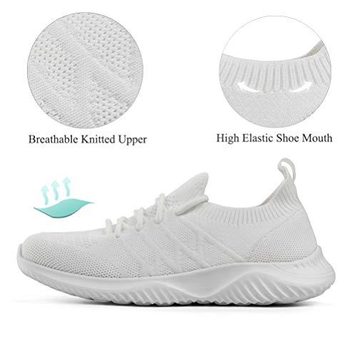 Akk Womens Walking Tennis Shoes Slip On Memory Foam Lightweight Casual Sneakers for Gym Travel Work