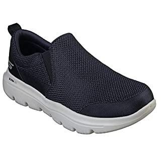Skechers Men's GO Walk Evolution Ultra-Impeccable Sneaker, Navy/Gray, 16