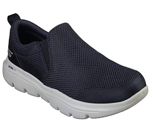 Skechers Men's GO Walk Evolution Ultra-Impeccable Sneaker, Navy/Gray, 14