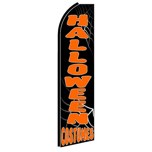 HALLOWEEN COSTUMES Flutter Feather Flag, FLAG ONLY (11.5' Tall x 3' Wide) ()