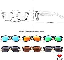 Nanyin Gafas De Sol De Bambú Polarizadas para Hombres Gafas ...