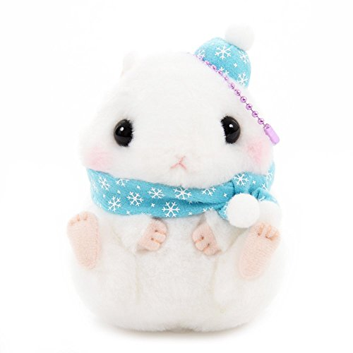 Hamster Keychain Toy Plushie Winter Special Cute Stuffed Animal Strap White LMC White Hamster