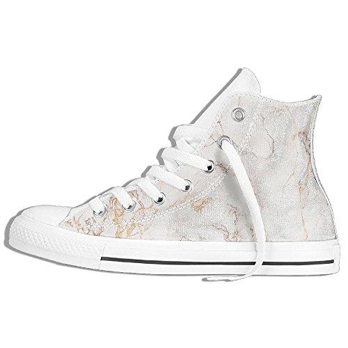 009a4ebe92401 Baskets Montantes Classiques Chaussures De Toile Anti-dérapant Or Marbre  Occasionnels Marche Pour Hommes Femmes