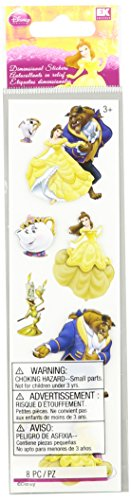 Disney Beauty and The Beast Dimensional Stickers