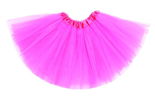 Anleolife 12'' Girl Tutu Skirt Party Tutus Pure Color (hot pink)