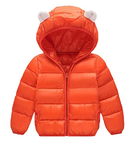 amp;E Jacket Down Outwear H Winter Zip Hooded Girl's Coat Boys Orange Bubble ZwRxAd