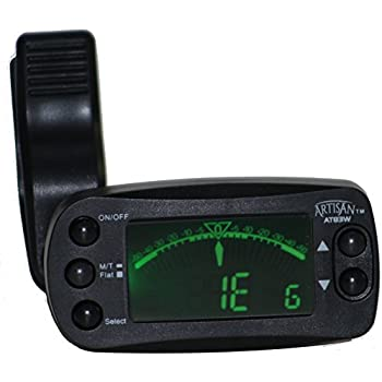 Artisan Metronome Tuner Clip on w/ Guitar, Bass, Cello, Viola, Violin, Mandolin, Ukulele, Banjo, Piano & Chromatic Modes. Best Instrument Tuner. 8 Rhythms, Loud Audible Beats up to 100dB: 30 - 250 bpm