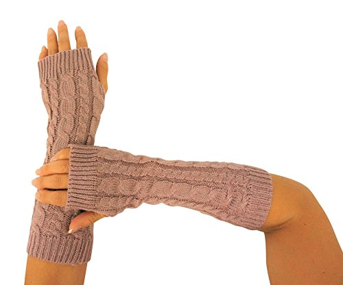 Caribbean Touch Knitted Fingerless Gloves for Women Winter Knitted Gloves Arm Warmers