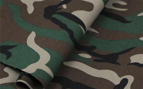 HomeBuy Green Army Camo Camouflage Fabric - Curtain Upholstery Material 140Cm - Blue Material Camouflage