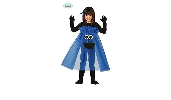 Disfraz de Monstruo-tutú azul talla 3-4 años: Amazon.es: Juguetes ...