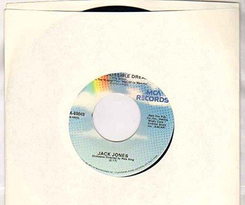 JACK JONES - IMPOSSIBLE DREAM / STRANGERS IN THE NIGHT - 7 inch vinyl / 45 record