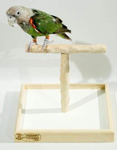 Deluxe Tabletop NU Perch - Parrot T Perch Stand by Parrot Wizard