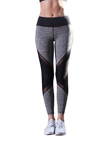 TOP-3 Yoga Pants Workout Legging Gray-Black For Women (Girls In Sheer Leggings)