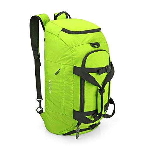 G4Free 3-Way Travel Duffel Backpack Luggage Gym Sports Bag with Shoe Compartment (Green)