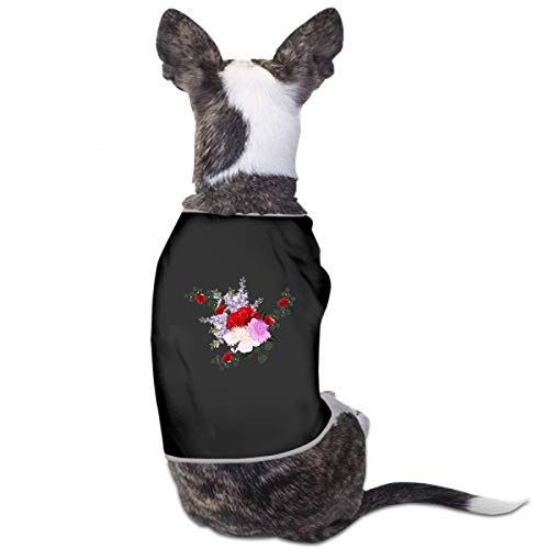 - XUGGL Dog Pajamas for Boys Delicate Bouquet Roses Peonies Decor Elements Tank Top Soft Cotton Dog Pajamas Girl