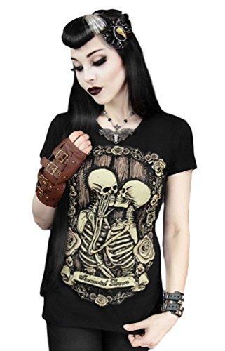 Camiseta Punk Amantes Inmortales Esqueletos Restyle