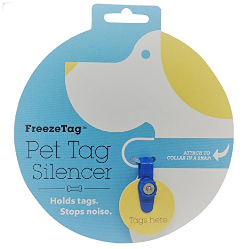 - FreezeTag Dog Tag Silencer and Connector, One Size, Sky Blue