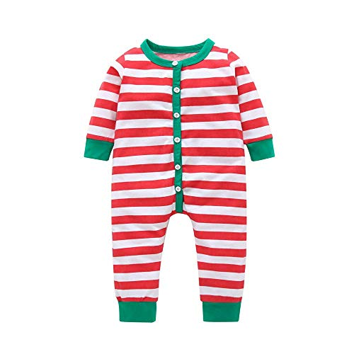 Fashion Toddler Baby Paywear Clothes Set - New Fall/Winter Unisex Baby Layette Gift Set Rompers Red Stripe 24M]()