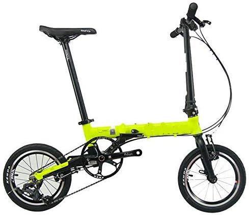 KEMANDUO Bicicleta Plegable, de 16 Pulgadas Mini Bicicleta ...