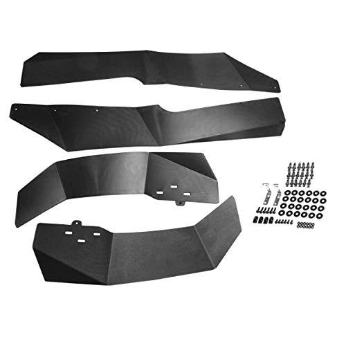 Set of 4 Front and Rear UTV Fender Flares Mud Flaps Splash Guards for 2014-2018 Polaris RZR XP 1000 RZR XP 4 1000 RZR XP Turbo