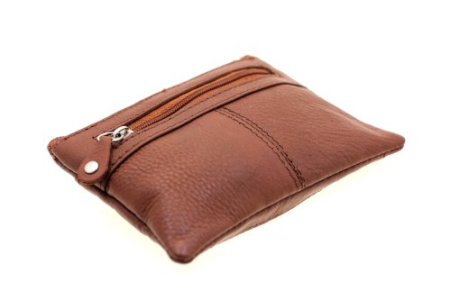 Ladies' Paul & Taylor Genuine Leather Zipper Coin Purse ID Slot British Brown
