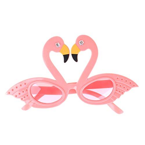 TUANTUAN 1 Pcs Funny Flamingo Shape Party Glasses Hawaiian Tropical Sunglasses for Summer Fancy Dress Party Costume Photo Props