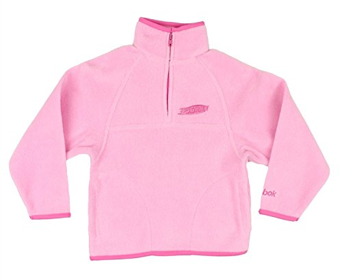 Reebok Anaheim Ducks NHL Little Girls 1/4 Zip Fleece Pullover Jacket - Pink (Large (7))