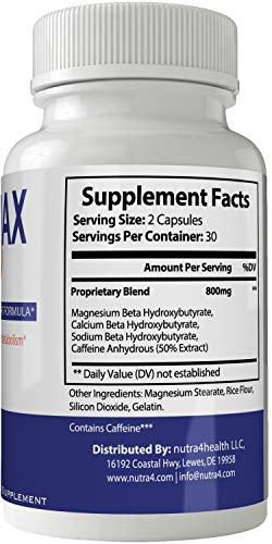 Keto Max 800 Pills Advance Weight Loss Supplement, Appetite Suppressant with Ultra Advanced Natural Ketogenic Capsules, 800 mg Fast Formula with BHB Salts Ketone Diet Boost Metabolism and Pulls Focus by nutra4health LLC (Image #1)