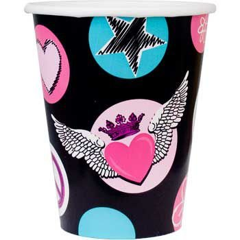 Rock Star Girl Party Supplies Cups