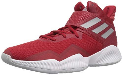 adidas Men's Explosive Bounce 2018 Basketball Shoe Power Silver Metallic/hi-res red, 8.5 M US