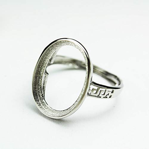 Sterling Mounting - 1pc Adjustable 925 Sterling Silver Jewellery findings,Ring Mounting, Ring Setting,12x16mm - FDSSS0051