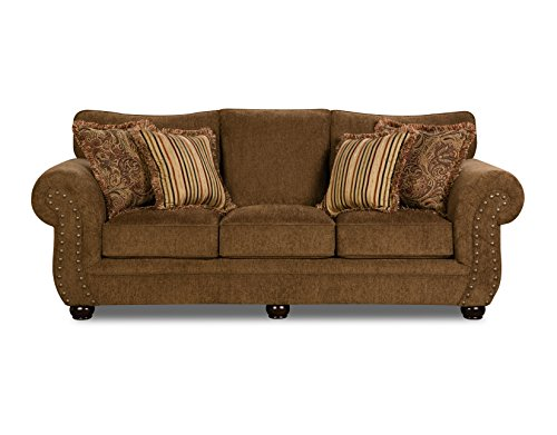 Simmons Upholstery Outback Sofa, Chocolate