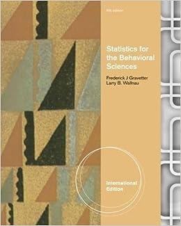 Statistics for the behavioral sciences international edition statistics for the behavioral sciences international edition amazon larry wallnau frederick gravetter 9781111839550 books fandeluxe Gallery