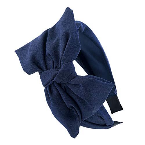 - Wide Hair Band For Women Floral Headband Girls Bow Hair Hoop Korean Fashion Knot Hairband Autumn Win