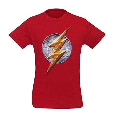 justice+league Products : Justice League Movie Flash Symbol Men's T-Shirt