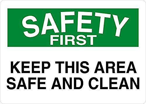 このエリアを安全に保ち、安全を確保してください 金属板ブリキ看板注意サイン情報サイン金属安全サイン警告サイン表示パネル
