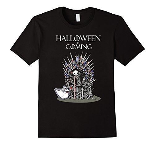 Mens Funny Halloween Is Coming T-shirts Gift XL Black