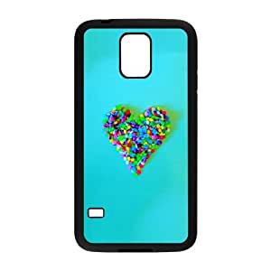 Samsung Galaxy s5 Black Cell Phone Case Heart Pattern LWDZLW0494 Custom Personalized Phone Case Cover