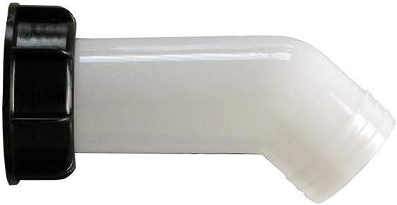 Bourgeon 1000 L Beccuccio di scarico con dado serbatoio per acqua piovana per IBC tubo curvo tubo di scarico