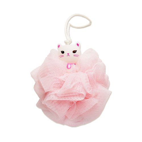 Etude House - My Beauty Tool Lovely Etti Shower Ball for woman/kids - Cute Cat Design - Pouf - Loofahs - Mesh Brush - Mesh Bath and Shower Sponge - Exfoliating Gloves & Mitts - Body Brushes]()