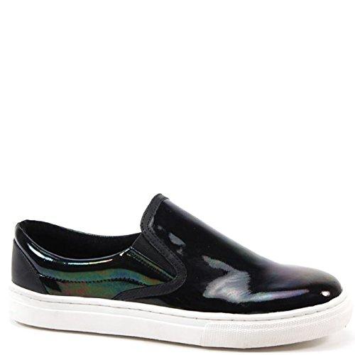 Bronx Women's Zee Row Fashion Sneaker,Black,38 EU/8 M US
